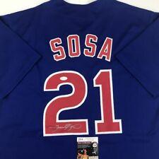 5118251d9 Autographed Signed SAMMY SOSA Chicago Blue Baseball Jersey JSA COA Auto