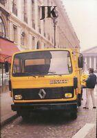 Renault JK Prospekt 1981 9/81 brochure prospectus truck camion Lastwagen Auto