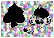 Skull Of Spades Airbrush Stencil,Template