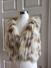 Steve Madden Vest Womens Faux Fur Size: M Sleeveless Faux Furry Fur