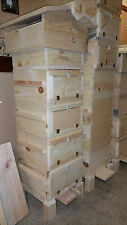 Warre Bee Hive with observation windows  (Complete 4 Box Hive (Fully Assembled)