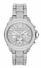 Michael Kors Wren 41.5 mm Silver Case Women's Wrist Watch, White Dial - (MK6317)