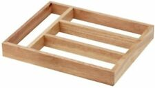 Wooden Cutlery Drawer Organiser Storage Tray
