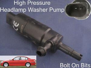 Scheinwerfer / Unterlegscheibe Spray Reinigung Pumpe BMW 3 Serie Saloon 1998 Zu