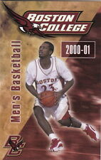 2000-01 Boston College Eagles Basketball Pocket Schedule
