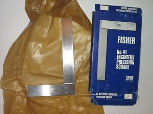 Fisher No. 41 B.S. 939 Engineers Precision Square 6-inch Steel Made in England