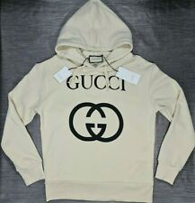 Gucci GG Oversized White Sweatshirt Hoodie Size S - Free Express Shipping