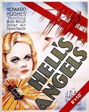 HELL'S ANGELS HOWARD HUGHES MOVIE POSTER PAINTING VINTAGE ART REAL CANVAS PRINT