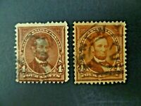 USA Lot of 2 1898 $.04 Lincoln #280 Used Regular Issue-See Description & Images