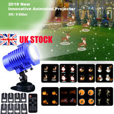 Moving LED Laser Projector Light Snowing Landscape Garden Christmas Party Lamp