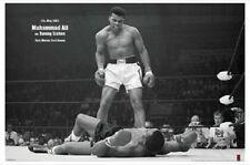 Muhammad Ali vs Sonny Liston (Horizontal) POSTER 61x91cm NEW boxing