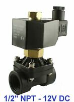 """1/2"""" Inch Electric Plastic Air Gas Water Solenoid Valve Normally Open 12V DC"""