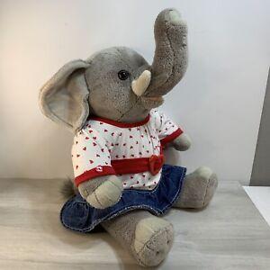 "Build A Bear BAB Baby Elephant Gray Zoo Animal 16"" Tall Plush RETIRED Cute 🥰"