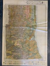"""Antique Wayne County, NY Color Soil Map 1919 Ag Geology Vintage 41"""" #231"""