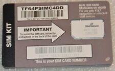 TracFone At&T 4G Lte Prepaid Dual Cut Sim Card Tf64Psimc4Dd