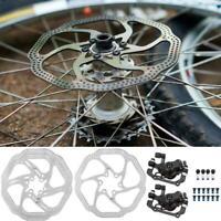 Mechanical Disc Brake 160mm Rotors Front Rear Set for MTB Mountain Bike Bicycle❤