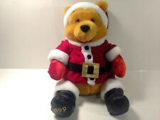 "Winnie The Pooh Bear Dressed As Santa Claus 12"" Stuffed Animal Christmas  t1918"