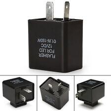12V 2 PIN Motorrad-Blinker Einstellbar LED Flasher Relay Fix Turn Signal NEU~
