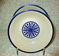 """Celebrity Medallion 7195 Cereal Bowls Lot of 2 Stoneware 7"""" Japan Excellent!"""