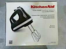 KitchenAid Hand Mixer, 5 Speed Hand Mixer, Onyx Black, KHM512OB