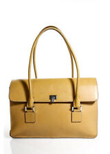 Lambertson Truex Light Brown Multipocket White Gold Hardware Tote Bag