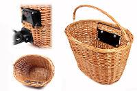 Fahrradkorb mit Clip/Klick Halterung Weidenkorb Lenkerkorb Einkaufskorb Lenker