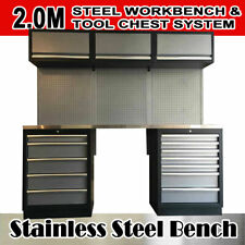 2M Steel Garage Workshop Workbench Tool Storage Box Organizer Cabinet -GT680G
