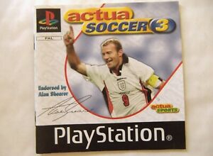 56578 Instruction Booklet - Actua Soccer 3 - Sony PS1 Playstation 1 (1998) SLES
