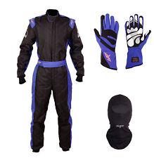 LRP Adult Kart Racing Suit- Speed Suit Package Deal 1 Black/Blue