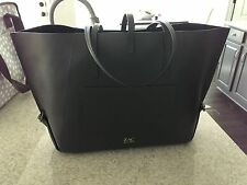 ZAC POSEN LEATHER SHOPPER TOTE BAG HANDBAG $595 -GREY
