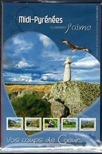 COLLECTOR TIMBRES COMME J' AIME MIDI-PYRENEES 2012 10 TIMBRES AUTOCOLLANTS