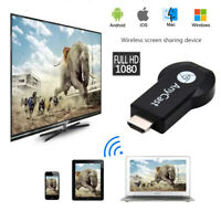 AnyCast WiFi Display Dongle Receiver Airplay Miracast HDMI DLNA TV Stick 1080P