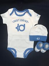 Nike Kevin Durant Infant Boy 3 Piece Set 6-12 Months :Bodysuit, Cap, Booties NIB