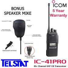 ICOM IC-41Pro 5W Handheld UHF CB Two way radio IC 41 PRO Portable Handheld IP67