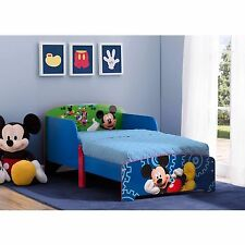 Kids Toddler Bed Pluto Mickey Goofy Donald Minnie Disney Wood Bedroom Furniture