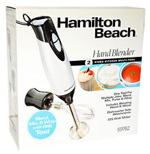 Hamilton Beach HAND BLENDER 2-Speed Blending Wand & Whisk  Blend Mix Puree Whip