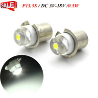 2X P13.5S 3-18V LED upgrade bulb - Latest version - Maglite D/C cell flashlights
