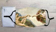 Creation of Adam face mask (Michaelangelo, Fresco)