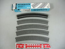 aj633-0, 5 #9x MÄRKLIN H0/AC 2131 CURVO piezas de vía/carriles PISTA DE K