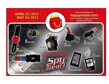 2012 McDonalds Spy Gear MIP Complete Set - Lot of 8, Boys, 3+