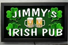 Large 12X24 LED  lighted personalized IRISH PUB bar sign REMOTE CONTROL