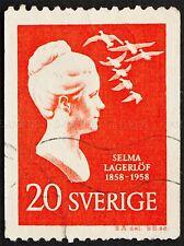 FRANCOBOLLO SVEZIA VINTAGE Selma Lagerlof Writer FOTO STAMPA POSTER bmp889a