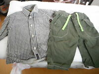 TIMBERLAND PADDED SHIRT TROUSERS  3-6 months