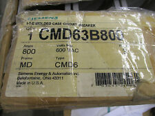 Siemens Cmd63B800, 800 Amp 600 Volt 100 kaic Circuit Breaker- New