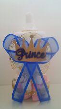 Prince Crown Centerpiece Bottle Large Baby Shower Boy Piggy Bank Table Decor