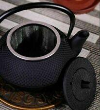 1PC Iron Kettle Teapot With Strainer 300ml Black Stainless Steel Kettle Tea Pot