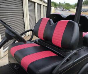 Club Car Precedent 2 Stripe Staple On Golf Cart Seat Cover