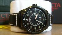 INVICTA-19262 Men's I-Force Aviation Style Black Leather Black Dial Watch
