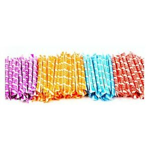 100 WONKA PIXY STIX SUGAR STRAWS CANDY ASSORTED FLAVORS PARTY FAVORS GOODY BAGS