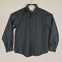 Helix Men's Long Sleeve Cotton Blend Button Up Shirt Gray Size 2XL